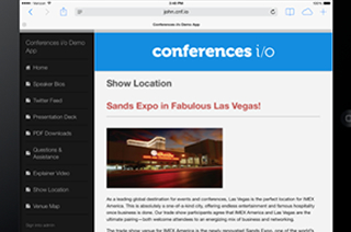 How Conferences i/o Can Be Used As a Lightweight Event App