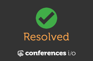 Resolved: DNS issues affecting Conferences i/o today
