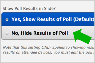 Poll results can now be hidden when using PowerPoint