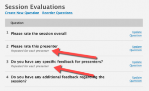 Session Evaluations