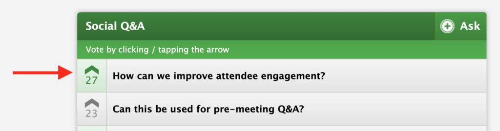 Conferences i/o Social Q&A Upvoting